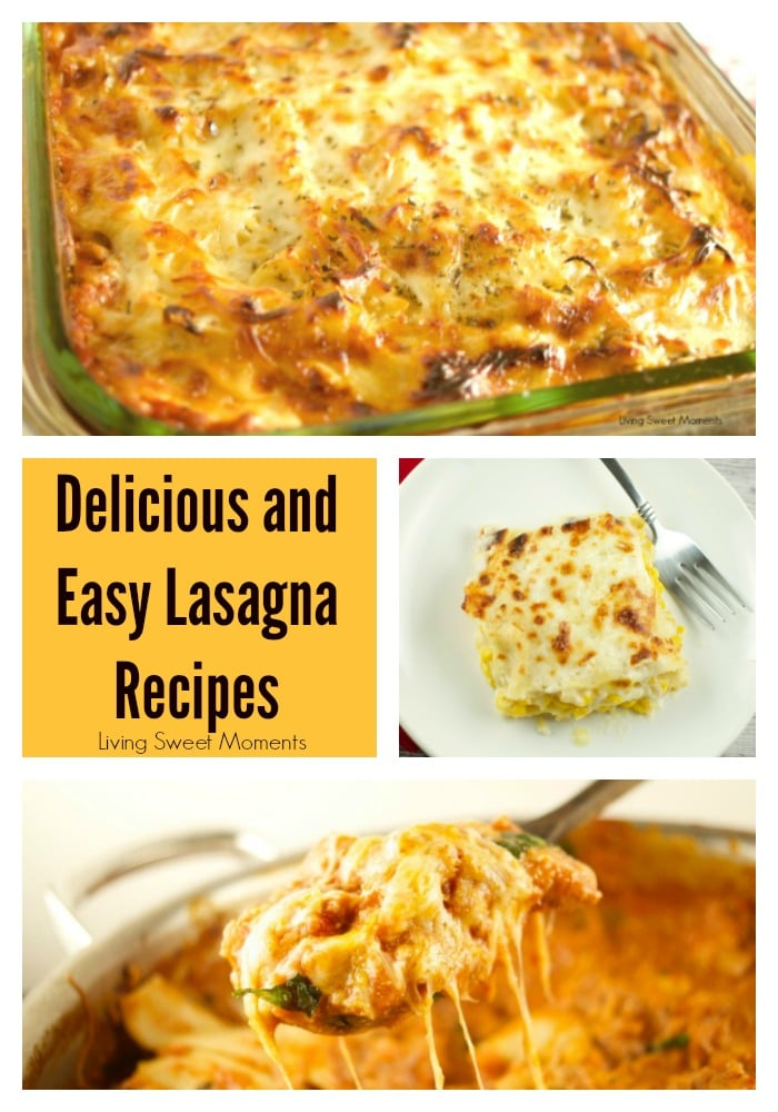You are going to love all the variations in these Easy Lasagna Recipes