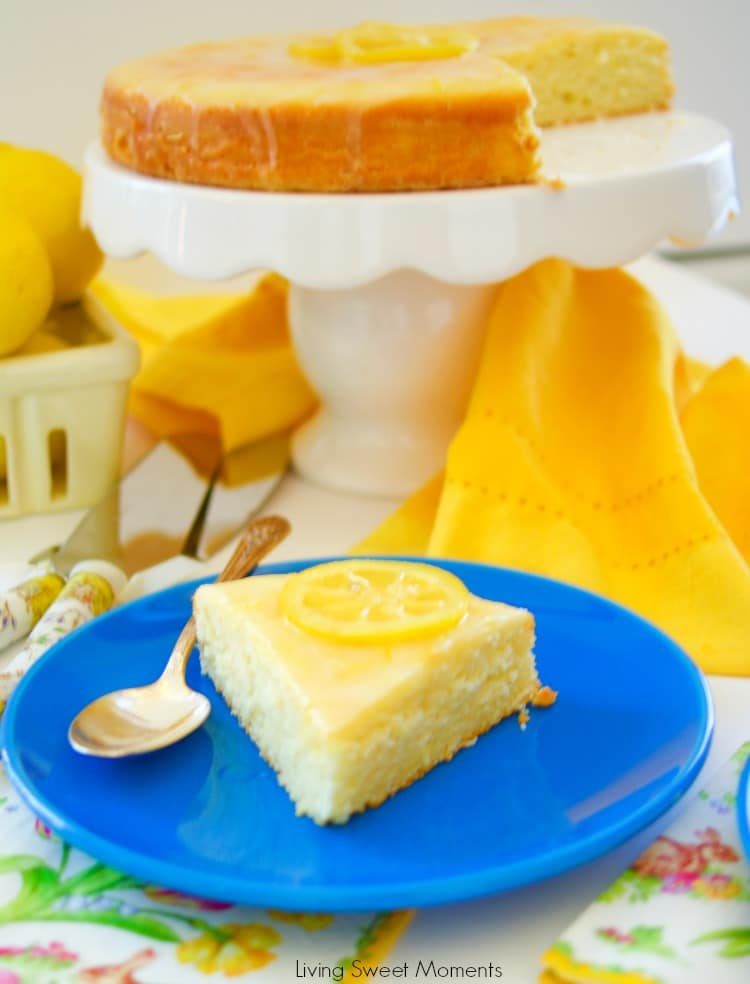 This delicious and tangy Moist Lemon Cake Recipe is easy to make and is perfect for dessert, picnic, and even afternoon tea. Topped with a sweet yummy glaze.