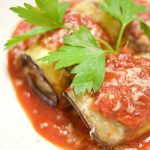 Roasted Eggplant Stuffed with Beef