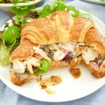 This lightened up Chicken Salad Sandwich Recipe is the best one you will ever try,Serve on a toasted croissant and is perfect for lunch, brunch, and picnics