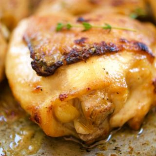 Maple-Mustard Chicken Thighs