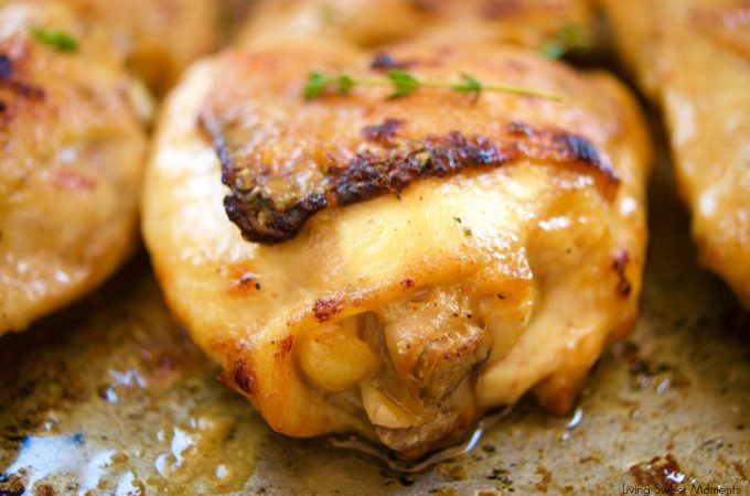 This easy and delicious Maple-Mustard Chicken Thighs recipe is broiled to perfection and made in 15 minutes or less. Perfect for a quick weeknight dinner.