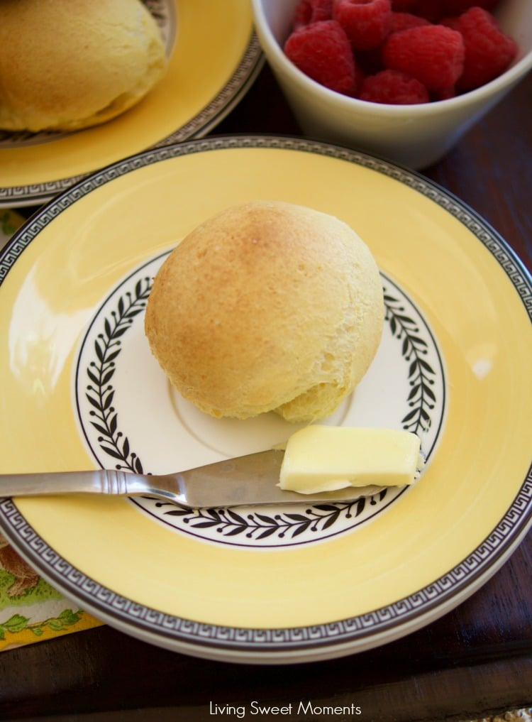 Pandebono is a Colombian gluten-free cheese bread that's easy to make and delicious. Serve it warm for breakfast or as rolls during dinner. Made in 30 min!