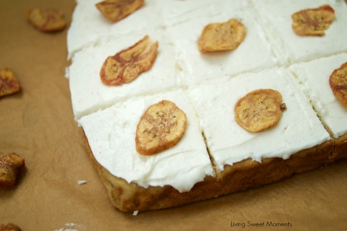 This Simple Banana Cake Recipe is delicious, moist, and easy to make. Served with brown butter frosting on top. Perfect for dessert, breakfast or coffee.