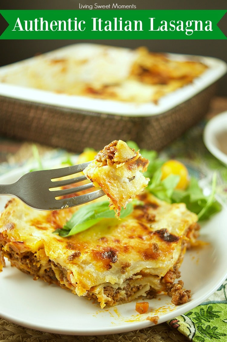 This Authentic Italian Lasagna Recipe made is by layering noodles with bolognese sauce, cheese, and bechamel. Delicious for dinner and celebrations.