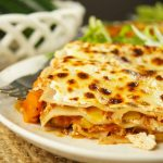 This hearty Low Fat Vegetarian Lasagna Recipe is packed with veggies in a delicious tomato sauce. The perfect weeknight dinner idea that everyone will love.