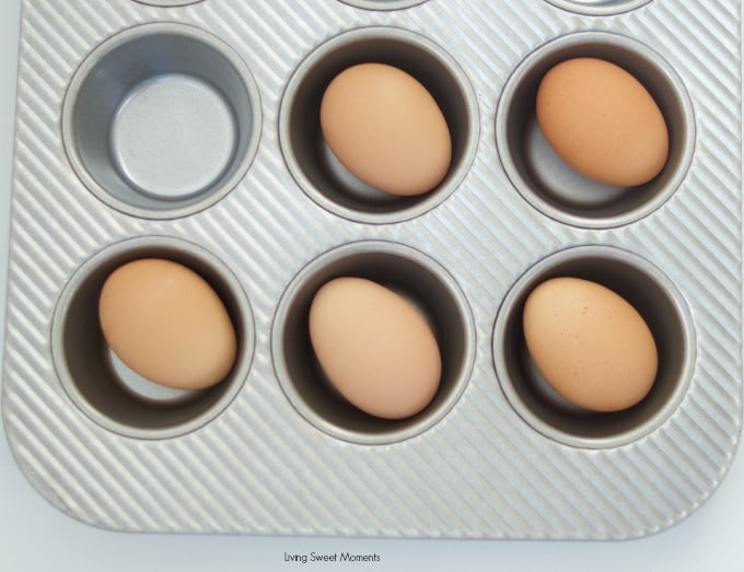 make hard boiled eggs in the oven! learn how in livingsweetmoments.com
