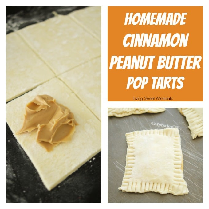 homemade cinnamon peanut butter pop tarts
