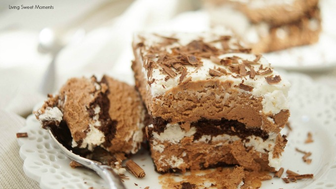 This scrumptious no-bake Chocolate Lasagna Recipe is made from scratch using mascarpone cream and real chocolate. Super easy to make and delish!