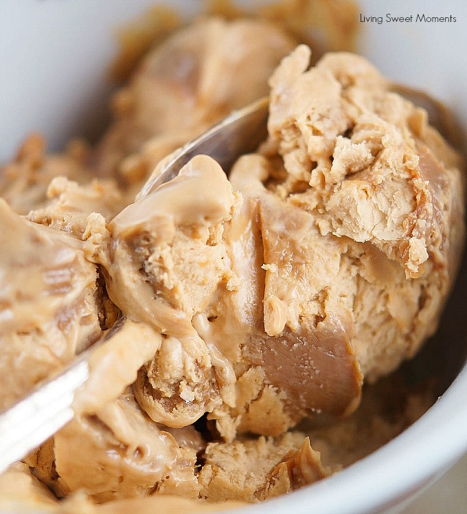 This easy Dulce de Leche Ice Cream recipe has only 2 ingredients and no ice cream maker needed! The perfect delicious and refreshing summer dessert.