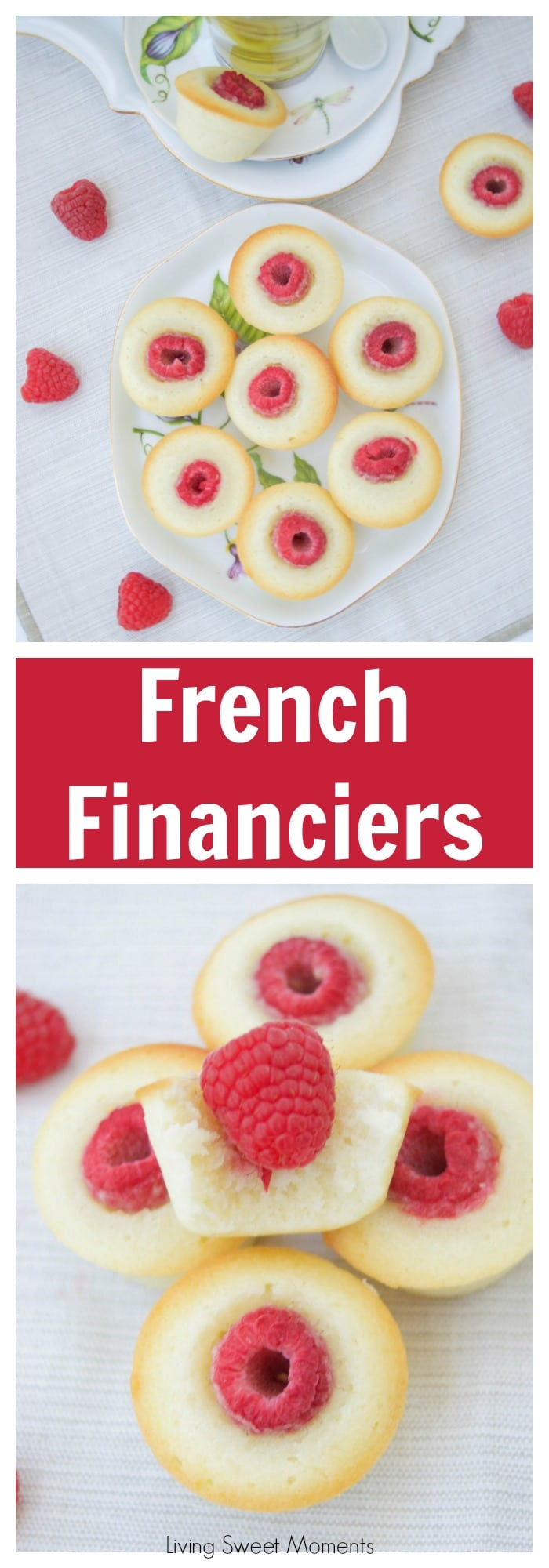 Financiers Recipe - this delicate french almond cake is flavored with browned butter and is super easy to make. The perfect dessert to enjoy with tea.