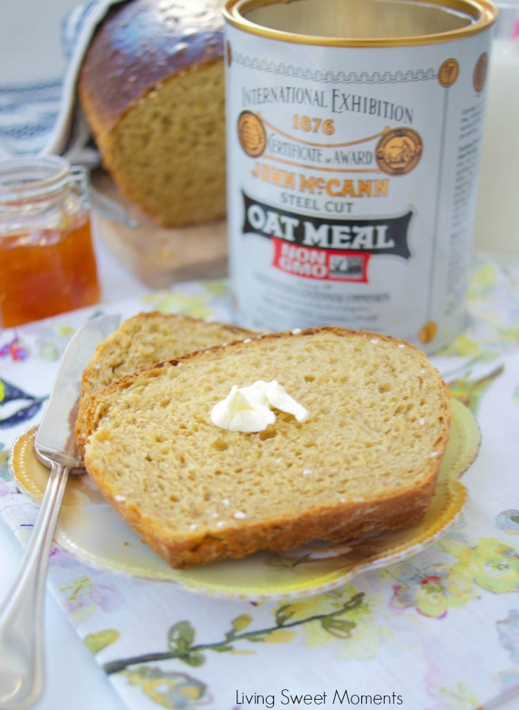 This easy and delicious Irish Oatmeal Bread recipe is made with steel cut oats, yeast, and molasses. Perfect for toast, sandwiches, & everything in between.