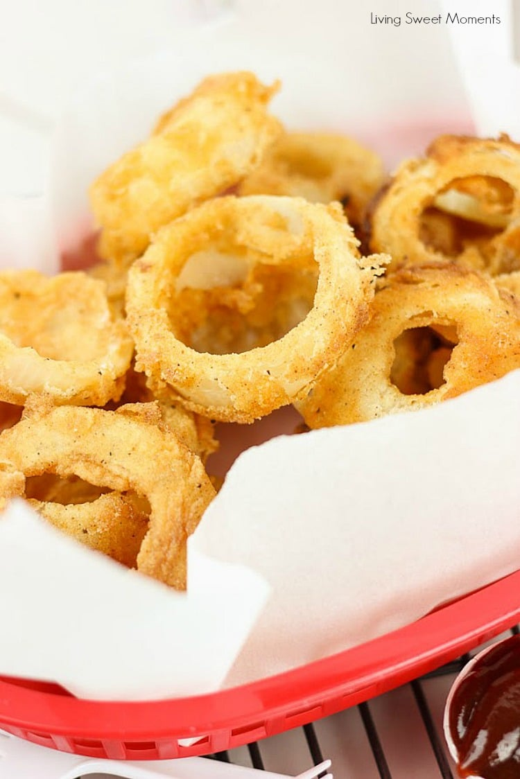 These Easy Buttermilk Onion Rings are battered and fried to perfection and make a delicious side dish to any meal. Serve with a tasty dipping sauce.