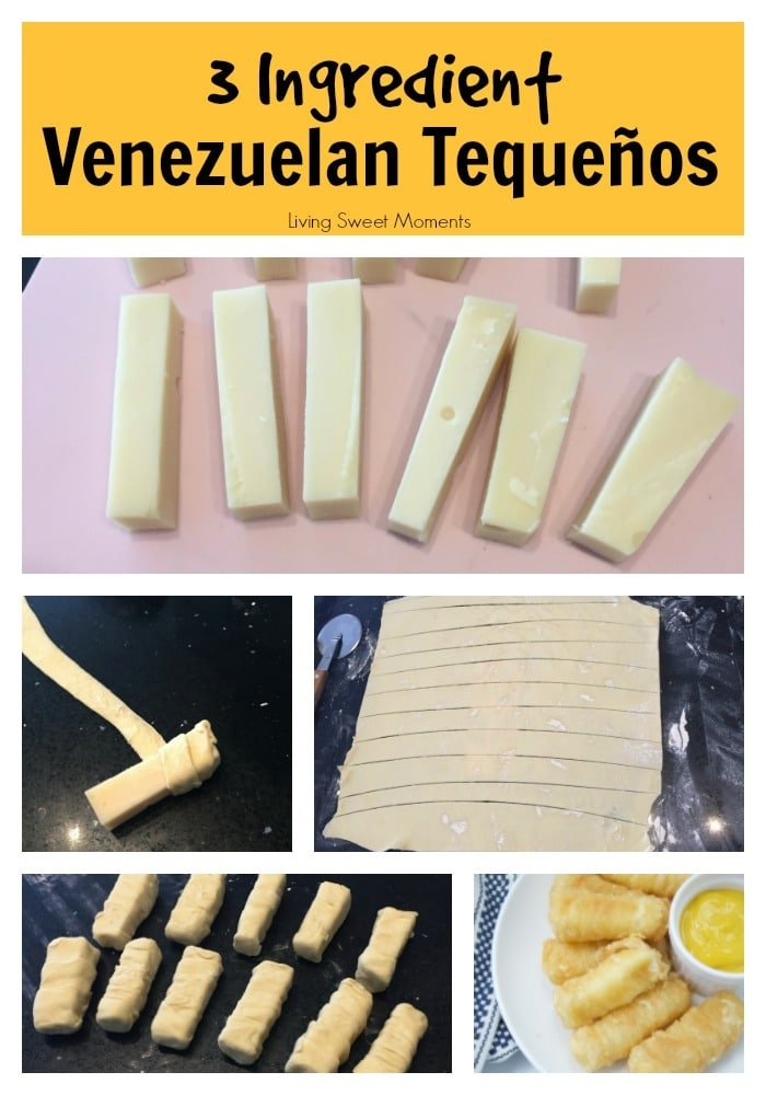 These delicious Venezuelan Tequeños (cheese sticks) are made with Gouda cheese and only require 3 ingredients. The perfect appetizer to any party or event.