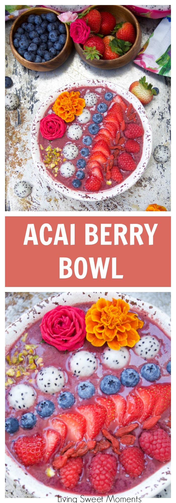 How To Prepare And Eat This Delicious Acai Bowl Recipe Is Blended With  Berries, Dragonfruit, And Yogurt It's