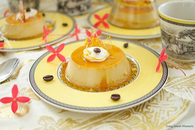 This easy coffee flan recipe is creamy and sweet with a nice java flavor for the coffee lovers. The perfect gluten free dessert for parties & celebrations.