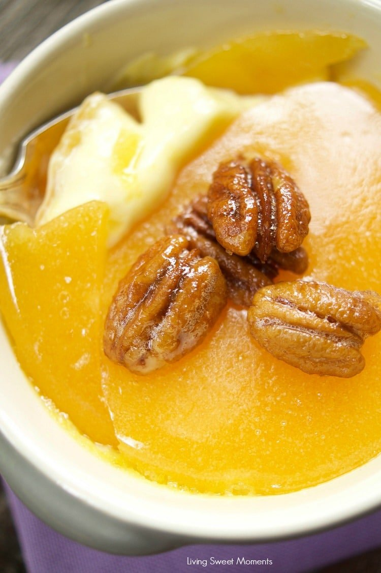 Maple Creme Brûlée With Candied Pecans - Living Sweet Moments