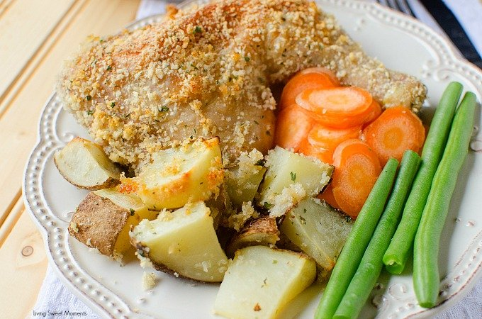 Ranch Potatoes And Chicken Sheet Pan Dinner - This delicious crispy chicken dinner recipe only requires one pan and is ready in 45 minutes or less.