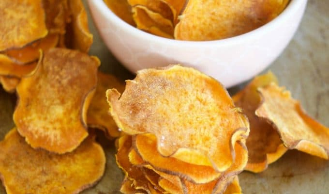 Crunchy Baked Sweet Potato Chips