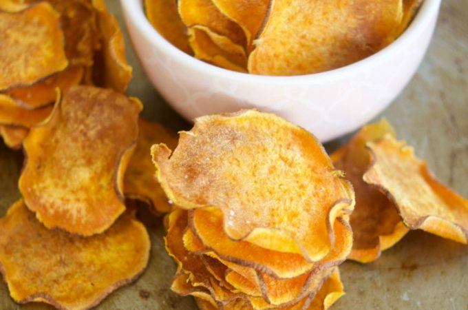 These crunchy Baked Sweet Potato Chips are oven baked to perfection and are great to snack on the go, especially in the lunchbox. It is also an easy recipe.