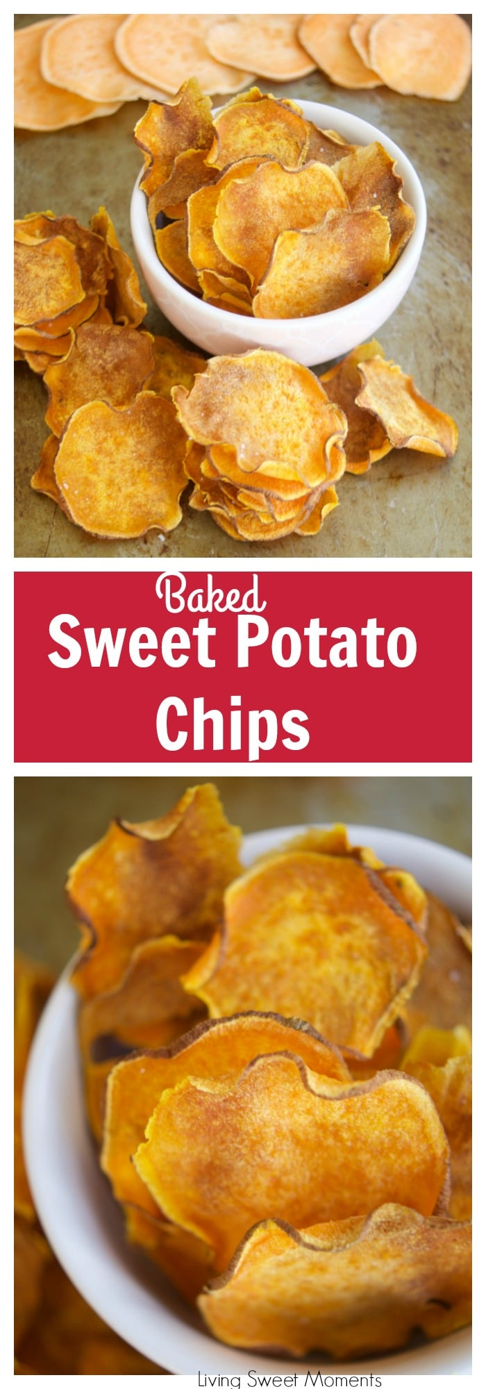 Crunchy Baked Sweet Potato Chips - Living Sweet Moments