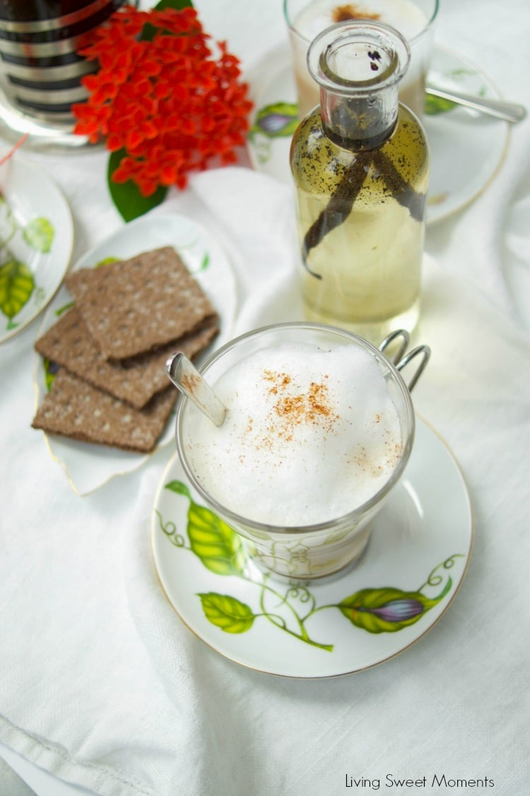 This delicious vanilla latte recipe tastes just like the coffeehouse and is actually made from scratch. Coffee with a splash of vanilla syrup & frothy milk.
