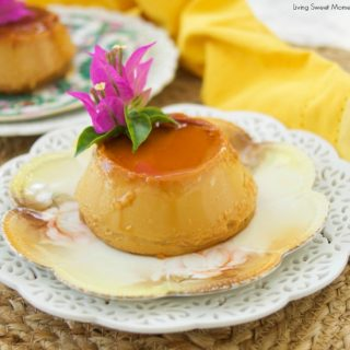 Microwave Flan - This delicious and creamy dulce de leche flan recipe is baked in the microwave for only 2 minutes. The perfect gluten free quick dessert!