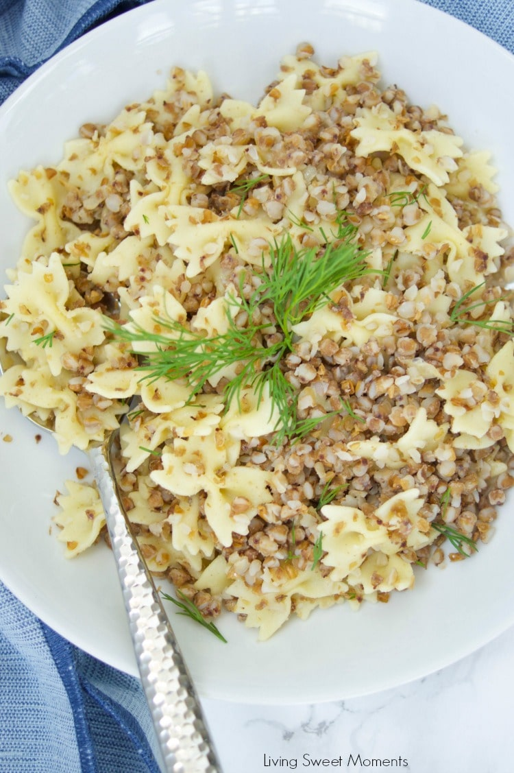 This delicious Kasha Varnishkes recipe is super easy to make and will definitely make your bubbe proud. The perfect side dish to any Jewish meal or Holiday.