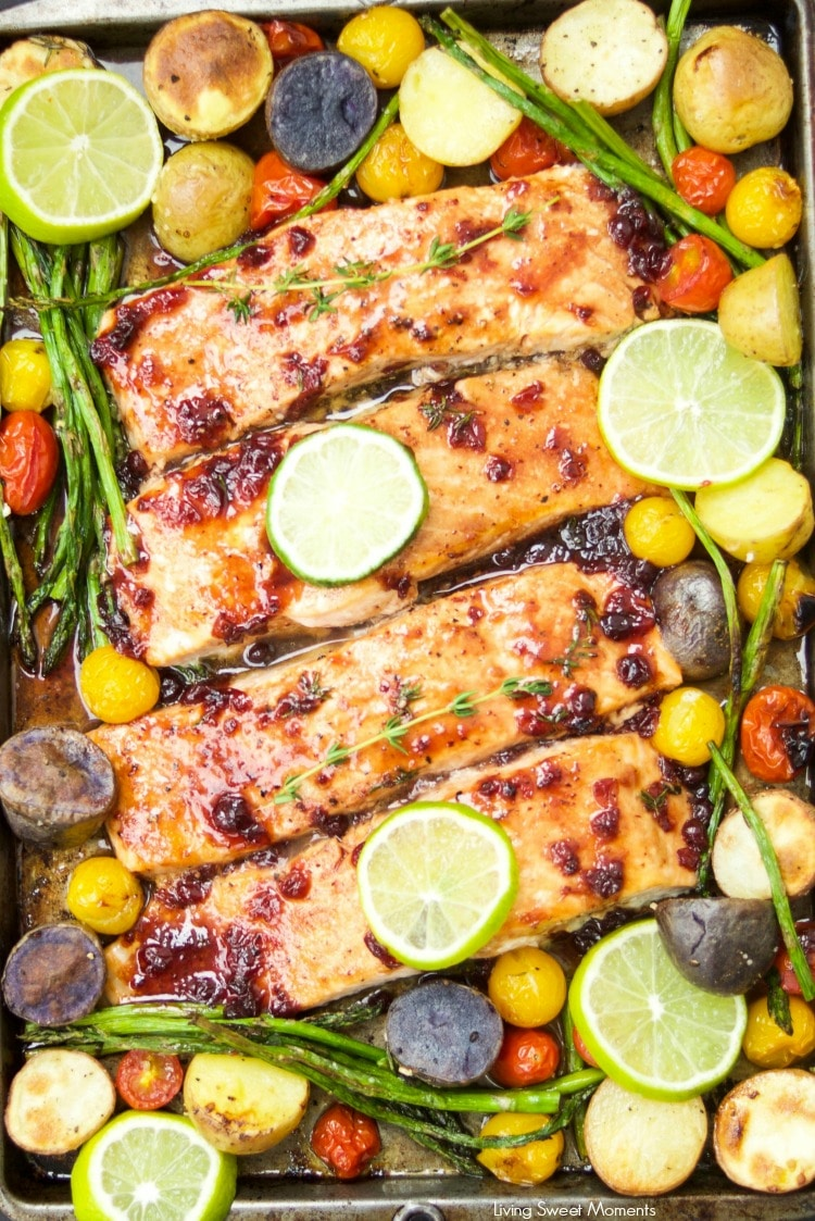 Tangy Salmon Sheet Pan Dinner Living Sweet Moments