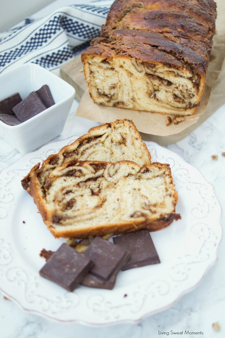 This moist butterscotch Chocolate Babka recipe is soft, delicious, and has a crunchy addition of pecans. Enjoy this babka for breakfast, brunch or dessert.