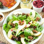 Candied Pecan Pear Salad With Pomegranates