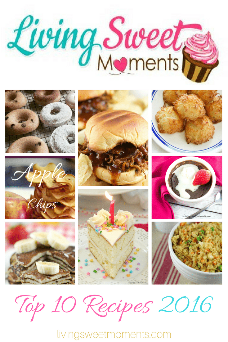 2016 has been an amazing year at Living Sweet Moments. Reviewing the top recipes 2016 has been fun discovering the recipes that made you come back for more!