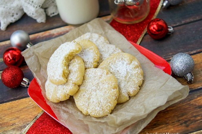 These incredible Brown Butter Meltaway Cookies have only 6 ingredients with no mixer needed! The best easy Christmas cookie recipe you will try!