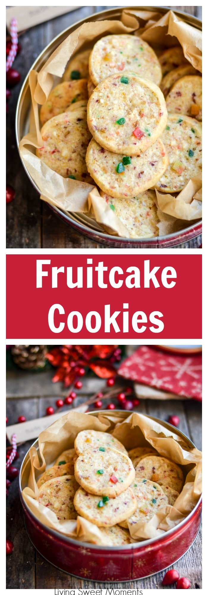 These irresistible Fruitcake Cookies will blow your mind with incredible flavor & soft texture. The perfect Christmas cookie recipe for exchanges & parties