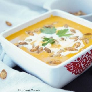 Amazing Curried Butternut Squash Soup (Vegan)