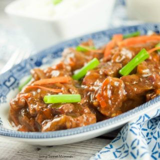 Gotta love instant pot Asian recipes! This instant pot Mongolian beef is made with flank steak & is ready in 20 minutes. Perfect for a quick weeknight meal