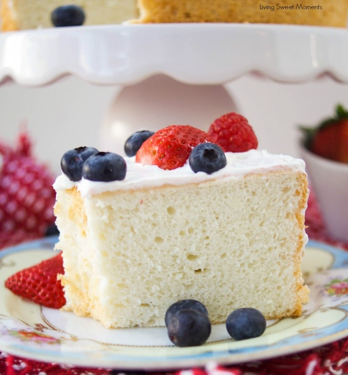 Sugarless angel food cake recipe