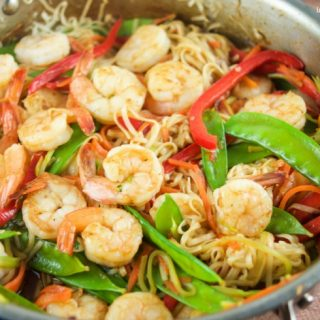 Deliciously Easy 15 Minute Shrimp Lo Mein