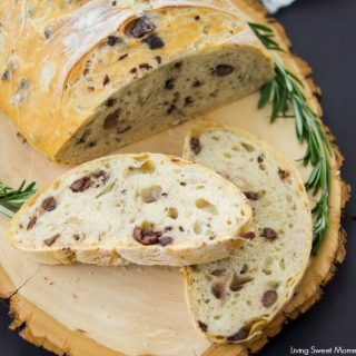 Crusty Rosemary Olive Bread Recipe