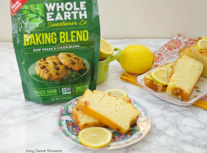 This moist and delicious light Lemon Loaf recipe has only 136 calories per slice and is diabetic friendly. Perfect for a reduced sugar dessert or brunch.