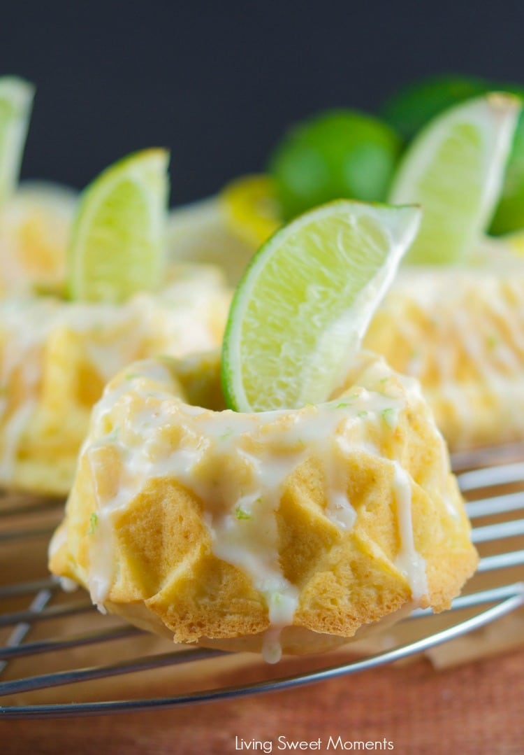 This irresistible Glazed Lime Cream Cheese Mini Bundt Cake recipe is super easy to make, delicious, and perfect for a cute Spring or Summer desserts. 2