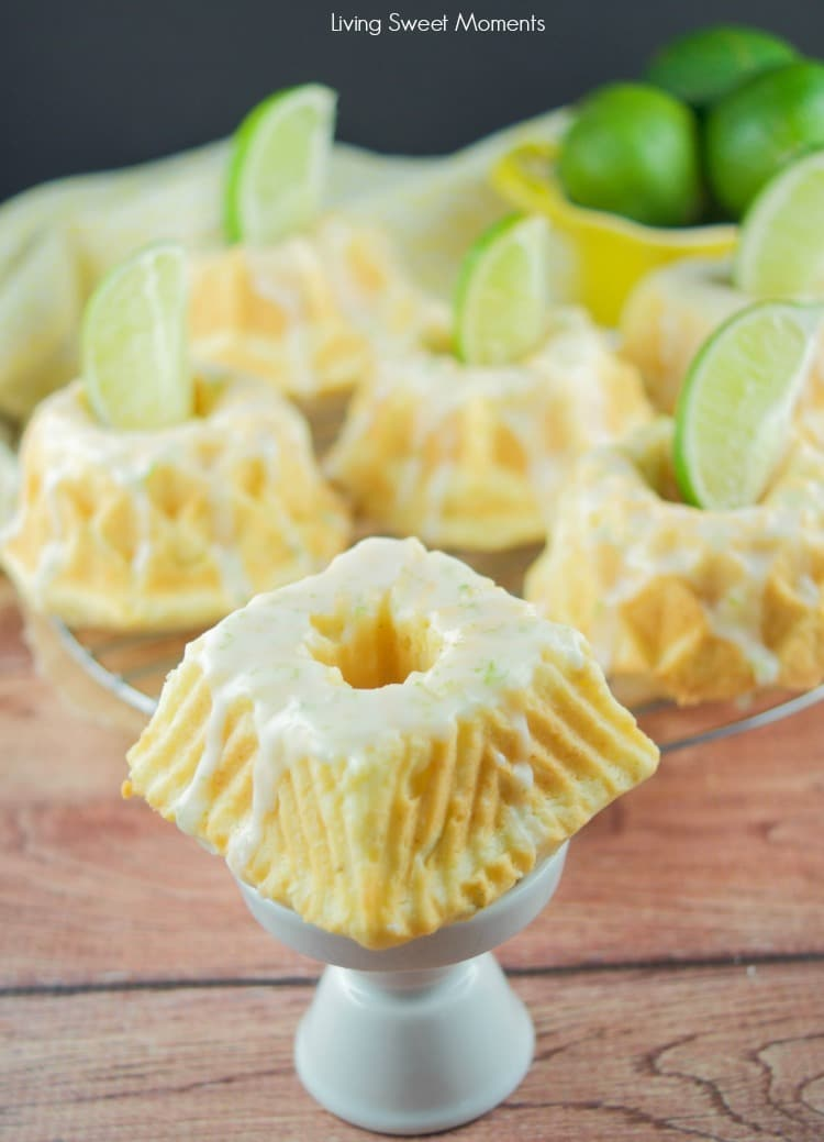 This irresistible Glazed Lime Cream Cheese Mini Bundt Cake recipe is super easy to make, delicious, and perfect for a cute Spring or Summer desserts. 3