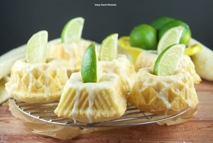 This irresistible Glazed Lime Cream Cheese Mini Bundt Cake recipe is super easy to make, delicious, and perfect for a cute Spring or Summer desserts. 7