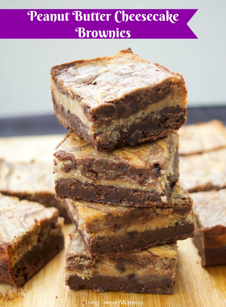 This soft and fudgy Peanut Butter Cheesecake Brownies recipe is super easy to make and perfect for dessert or snack. Enjoy 3 layers of chocolate goodness.