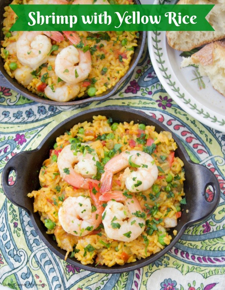 Spanish Shrimp With Yellow Rice