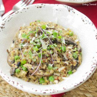 The Best Ever Wild Mushroom Quinoa Risotto (Quinotto)