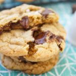 These amazing chewy Brown Butter Chocolate Chip Cookies have tons of butterscotch flavor, chocolate chunks and sea salt on top. The best cookie recipe ever! 2