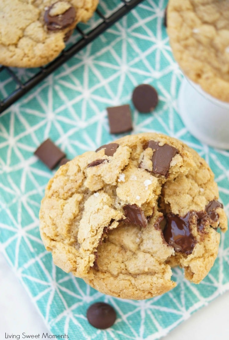 These amazing chewy Brown Butter Chocolate Chip Cookies have tons of butterscotch flavor, chocolate chunks and sea salt on top. The best cookie recipe ever! 3