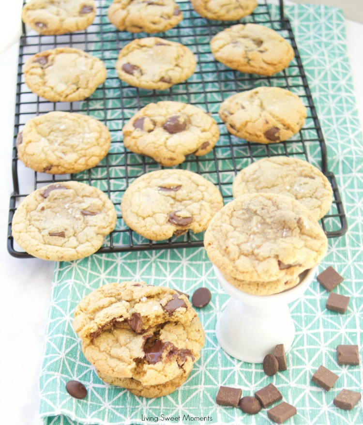 These amazing chewy Brown Butter Chocolate Chip Cookies have tons of butterscotch flavor, chocolate chunks and sea salt on top. The best cookie recipe ever! 4