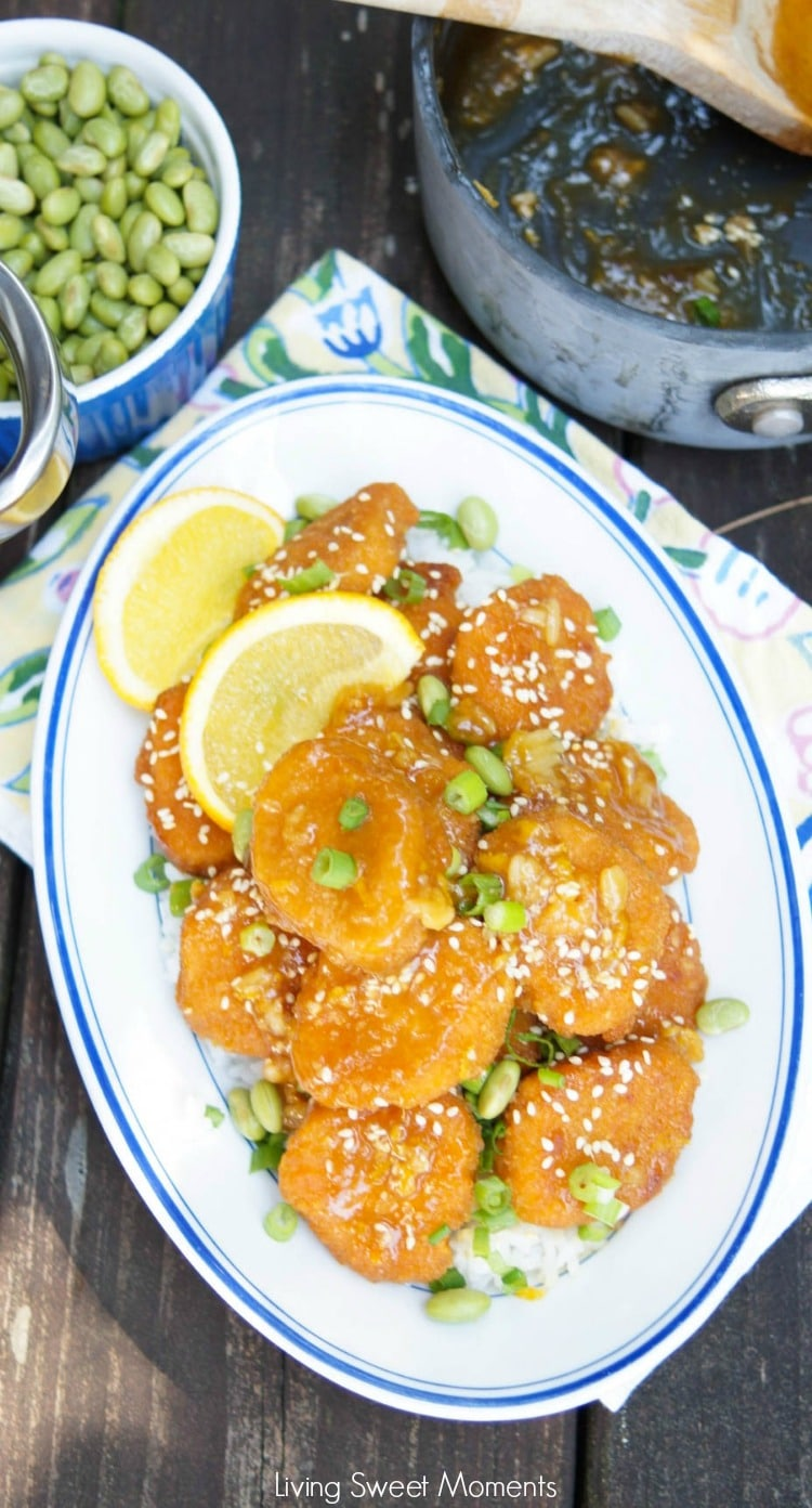 This delicious quick Crispy Orange Chicken recipe uses Chicken Nuggets and is ready on your table in 15 minutes or less. For an easy weeknight dinner idea